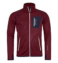 Ortovox Fleece - giacca in pile sci alpinismo - uomo, Red