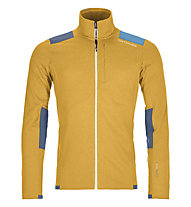 Ortovox Merino Fleece Light Grid - giacca in pile - uomo, Yellow