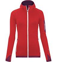 Ortovox Fleece Light - Fleecejacke mit Kapuze - Damen, Red