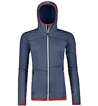 Ortovox Fleece Light - felpa in pile con cappuccio - donna, Blue