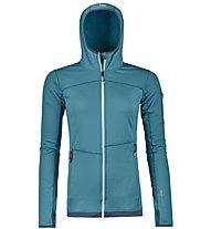 Ortovox Merino Fleece Light - Fleecejacke mit Kapuze Bergsport - Damen, Light Blue