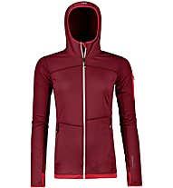 Ortovox Fleece Light - felpa in pile con cappuccio - donna, Dark Red