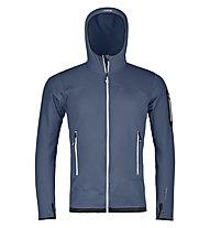 Ortovox Merino Fleece Light - Fleecejacke mit Kapuze Skitouren - Herren, Dark Blue