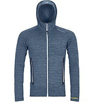 Ortovox Fleece Light Melange Hoody - giacca in pile con cappuccio - uomo, Blue