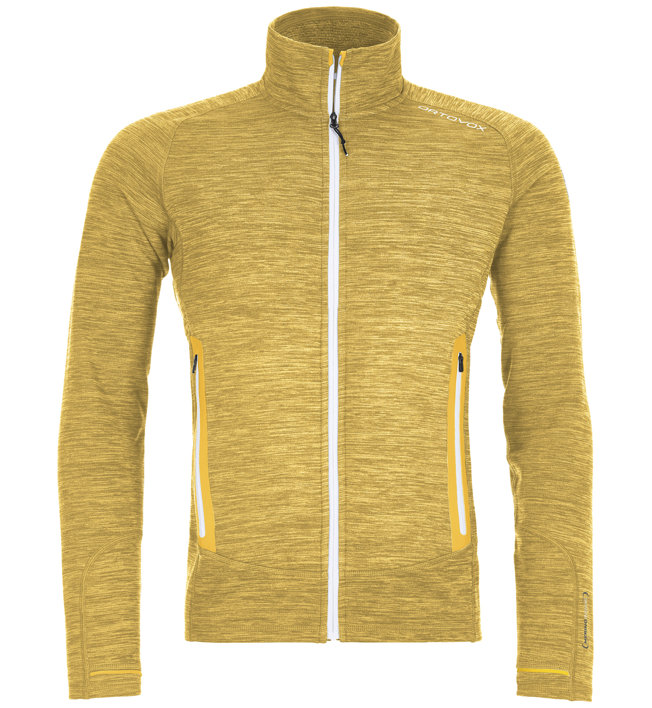 Ortovox Merino Fleece Light Melange - Fleecejacke Bergsport - Herren, Yellow