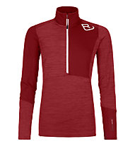 Ortovox Fleece Light Zip Neck - Langarmshirt mit Reißverschluss - Damen, Dark Red