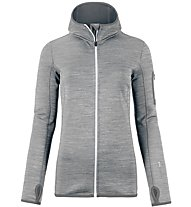 Ortovox Fleece Melange - Fleecejacke mit Kapuze - Damen, Grey