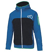 Ortovox Fleece Plus - giacca con cappuccio sci alpinismo - uomo, Light Blue