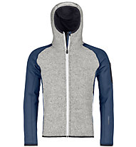 Ortovox Fleece Plus Classic Knit - Fleecejacke mit Kapuze Skitouren - Herren, Blue