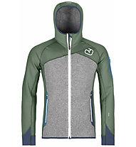 Ortovox Fleece Plus - Fleecejacke mit Kapuze - Herren, Green/Grey