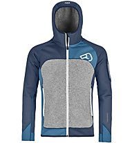 Ortovox Fleece Plus - giacca in pile con cappuccio sci alpinismo - uomo, Blue