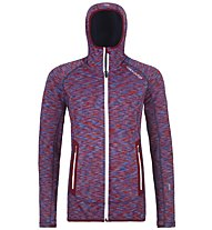 Ortovox Fleece Space Dyed - Fleecejacke mit Kapuze - Damen, Red/Blue