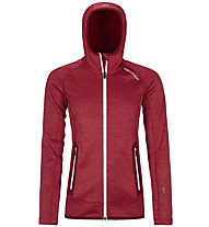 Ortovox Fleece Space Dyed - Fleecejacke mit Kapuze - Damen, Red/Dark Red