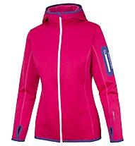 Ortovox Hoody SP - giacca con cappuccio sci alpinismo - donna, Red