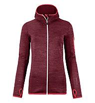 Ortovox Melange - giacca in pile con cappuccio - donna, Red