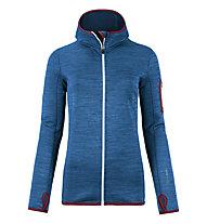 Ortovox Melange - giacca in pile con cappuccio - donna, Blue