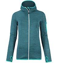 Ortovox Melange - giacca in pile con cappuccio - donna, Green