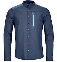 Ortovox Merino Ashby - camicia a maniche lunghe - uomo, Blue