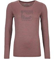 Ortovox Merino Contrast - Langarmshirt - Damen, Pink
