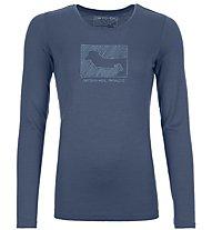 Ortovox Merino Contrast - Langarmshirt - Damen, Blue