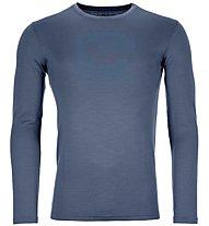 Ortovox Merino Contrast - maglia a maniche lunghe - uomo, Blue