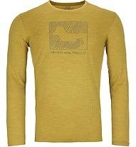 Ortovox Merino Contrast - maglia a maniche lunghe - uomo, Yellow