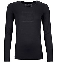 Ortovox Merino Contrast - maglia a maniche lunghe - donna, Black
