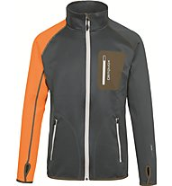 Ortovox Merino Fleece Jacke Herren Fleecejacke, Grey/Orange