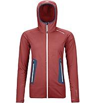 Ortovox Merino Fleece Light Hoodie - giacca con cappuccio - donna, Dark Red/Blue