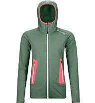Ortovox Merino Fleece Light Hoodie - giacca con cappuccio - donna, Green