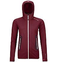 Ortovox Merino Fleece Light Hoodie - giacca con cappuccio - donna, Dark Red