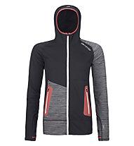 Ortovox Merino Fleece Light Hoodie - giacca con cappuccio - donna, Black