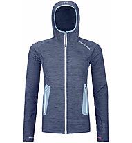 Ortovox Merino Fleece Light Hoodie - giacca con cappuccio - donna, Blue/Light Blue
