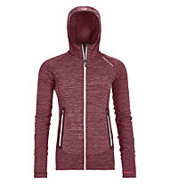Ortovox Merino Fleece Light Melange - Fleecejacke mit Kapuze - Damen, Red