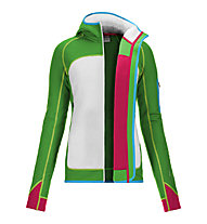 Ortovox Merino Fleece Plus Hoody giacca donna, Absolute Green