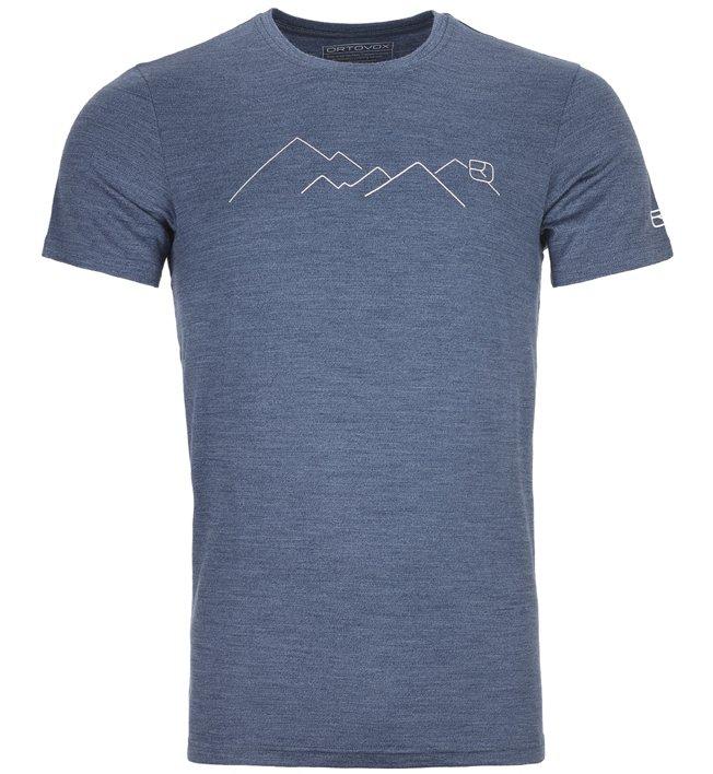 Ortovox Merino Mountain - T-shirt trekking - uomo, Blue