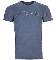 Ortovox Merino Mountain - T-Shirt Bergsport - Herren, Blue