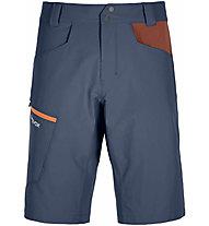 Ortovox Pelmo - pantaloni corti trekking - uomo, Blue/Dark Red