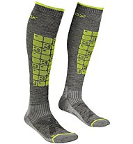 Ortovox Merino Tour Compression - calze da sci alpinismo - uomo, Grey/Yellow