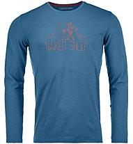 Ortovox Naked Sheep - maglietta tecnica a maniche lunghe - uomo, Blue