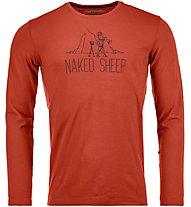 Ortovox Naked Sheep - maglietta tecnica a maniche lunghe - uomo, Orange