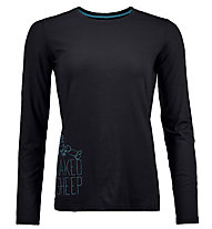 Ortovox Naked Sheep Long - maglia a manica lunga scialpinismo - donna, Black