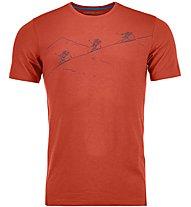 Ortovox Naked Sheep - maglietta tecnica - uomo, Orange
