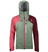 Ortovox Ortler - giacca con cappuccio sci alpinismo - donna, Green/Red
