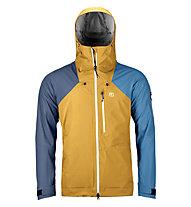 Ortovox Ortler - giacca con cappuccio sci alpinismo - uomo, Yellow