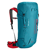 Ortovox Peak Light 30 S - zaino alpinismo - donna, Light Blue/Orange