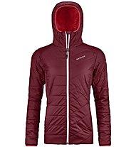 Ortovox Piz Bernina - giacca con cappuccio - donna, Dark Red