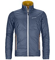 Ortovox Piz Boval - giacca sci alpinismo - uomo, Blue/Yellow