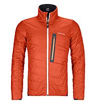 Ortovox Piz Boval - giacca sci alpinismo - uomo, Black/Red