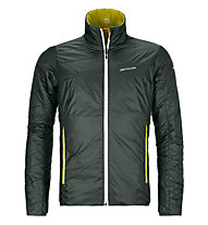 Ortovox Piz Boval - giacca sci alpinismo - uomo, Green/Yellow